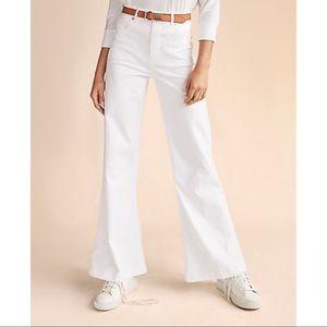 Super High Waisted White Wide Leg Pant